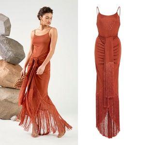 Cult Gaia Natalia fringe gown - size Small